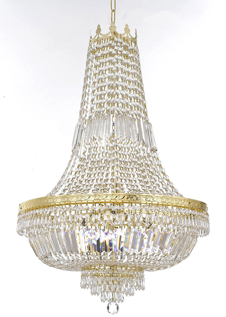 "French Empire Crystal Chandelier Lighting-Great for the Dining Room, Foyer, Entry Way, Living Room H50"" X W24"" - F93-B8/C7/CG/870/9"