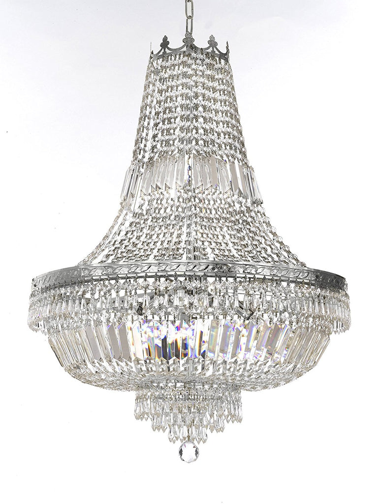 "French Empire Crystal Chandelier Lighting- Great for the Dining Room, Foyer, Entry Way, Living Room H30"" X W24"" - F93-B8/CS/870/9"