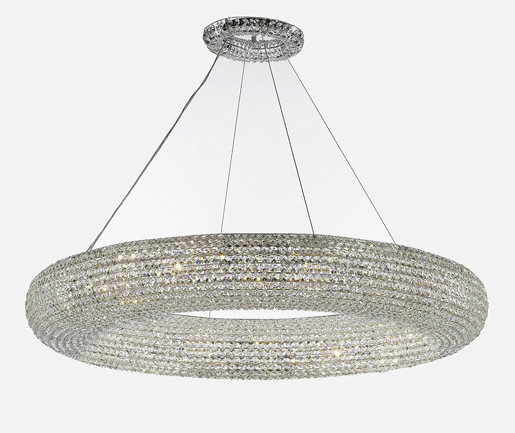 Crystal Halo Chandelier Modern Contemporary Lighting