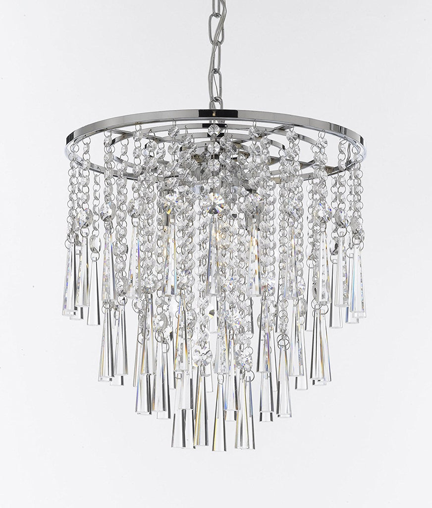 Modern Contemporary Chandelier Rain Drop Chandeliers Lighting H 16 W 15