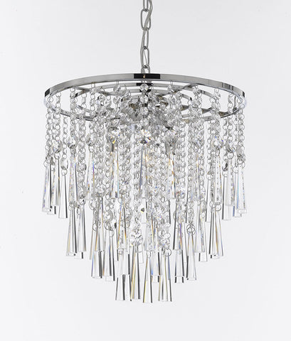 "Modern Contemporary Chandelier ""Rain Drop"" Chandeliers Lighting H 16"" W 15"" - Good for Dining Room, Foyer, Entryway, Family Room, Bedroom and More! - J10-26036/3"