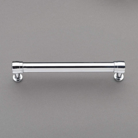 "Nouveaux Collection 6"" Pull Handle Hardware Polished Chrome Finish Pulls Great for Kitchen or Bathroom Cabinets, Drawers, Dressers, and More! - P100-12/4551"