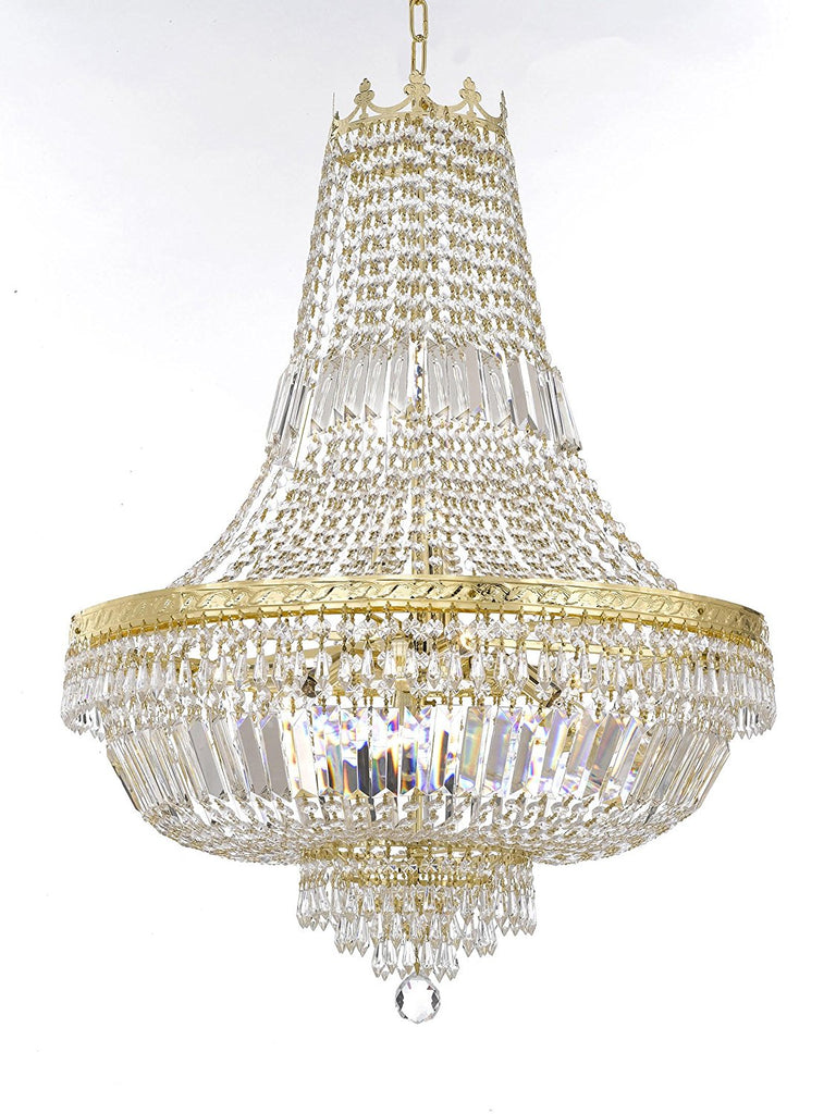 "French Empire Crystal Chandelier Lighting - Great for the Dining Room, Foyer, Entry Way, Living Room H30"" X W24"" - F93-B8/CG/870/9"