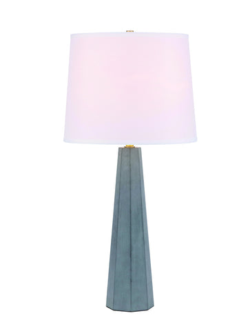 ZC121-TL3044GR - Regency Decor: Airelle 1 light Gray Table Lamp