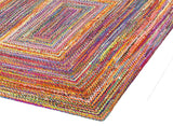 Multi Color Handbraided Jute Rug Area Rug 8 X 10 - J10-IN-601-8X10