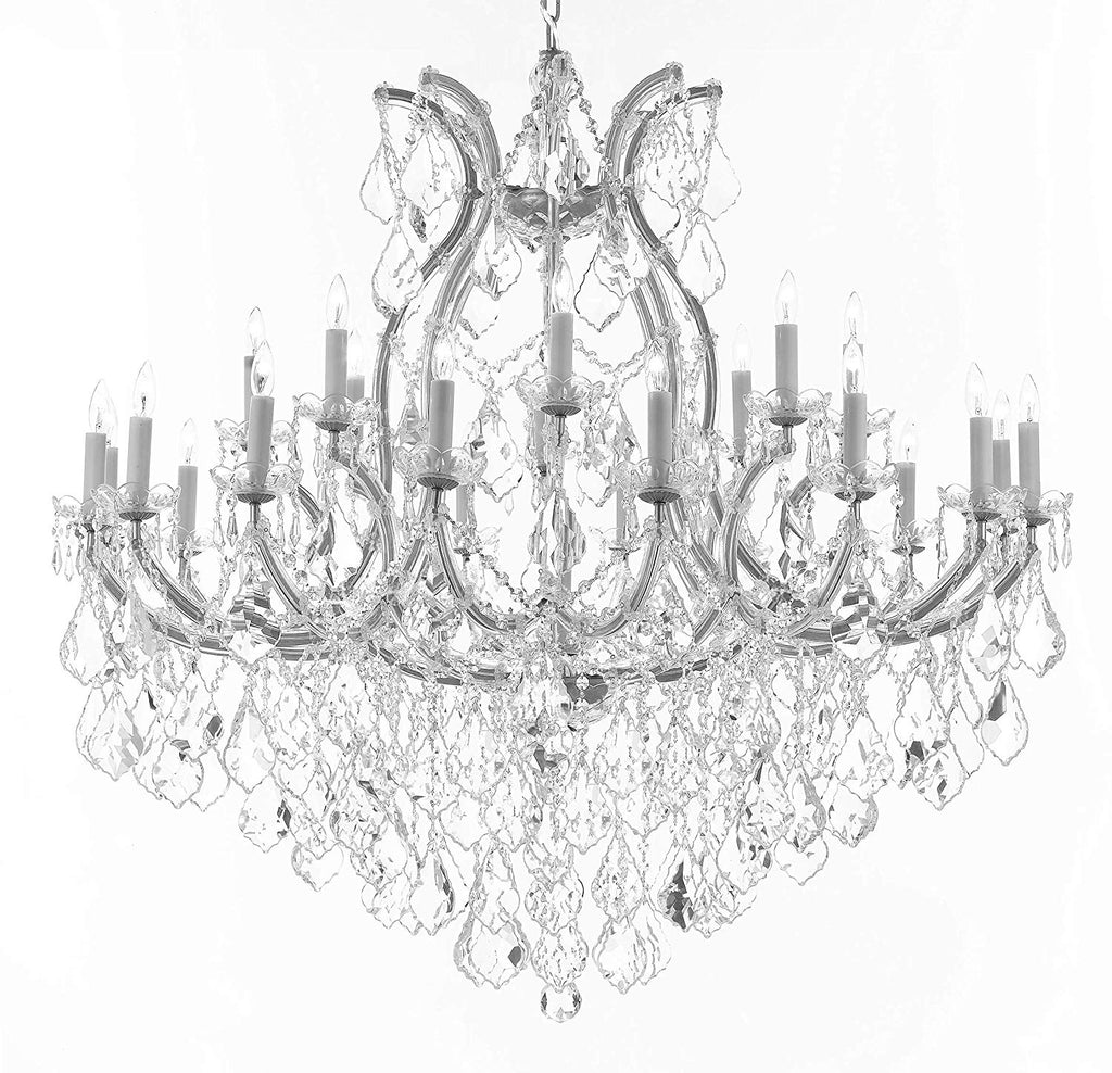 "Crystal Chandelier Lighting Chandeliers H46"" X W46"" Dressed with Large,Luxe, Diamond Cut Crystals! Great for The Foyer, Entry Way, Living Room, Family Room and More - A83-B90/CS/2MT/24+1DC"