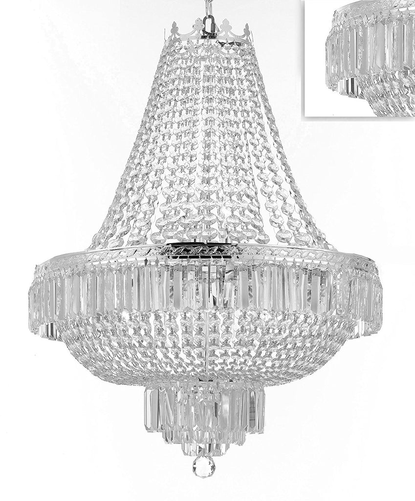 "French Empire Crystal Chandelier Lighting - Great for the Dining Room, Foyer, Entry Way,Living Room! H24"" X W24"" - F93-B102/C3/CS/870/9"