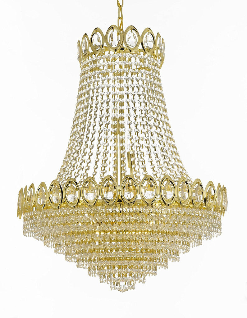 French Empire Crystal Chandelier Chandeliers Lighting H38 X Wd30 14 Lights 6290