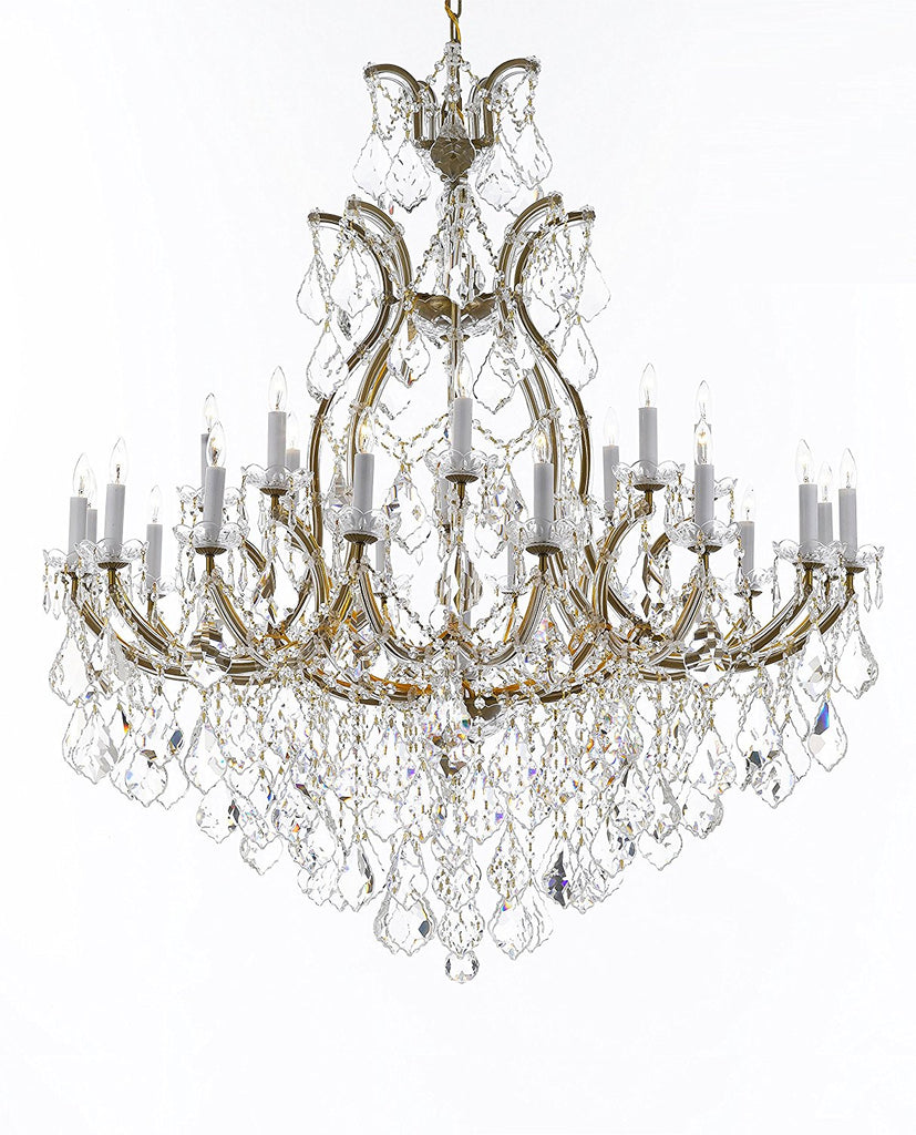 "Crystal Chandelier Lighting Chandeliers H52"" X W46"" Dressed with Large, Luxe, Diamond Cut Crystals Great for the Foyer, Entry Way, Living Room, Family Room and More - A83-B90/52/2MT/24+1DC"
