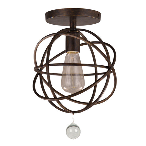 1 Light English Bronze Industrial Ceiling Mount - C193-9220-EB_CEILING