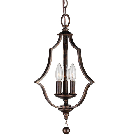 3 Light English Bronze Chic Mini Chandelier - C193-9350-EB