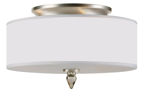 3 Light Satin Nickel Transitional  Modern Ceiling Mount - C193-9503-SN