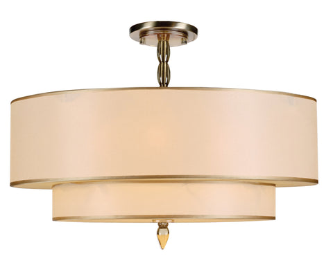 5 Light Antique Brass Transitional Ceiling Mount - C193-9507-AB_CEILING