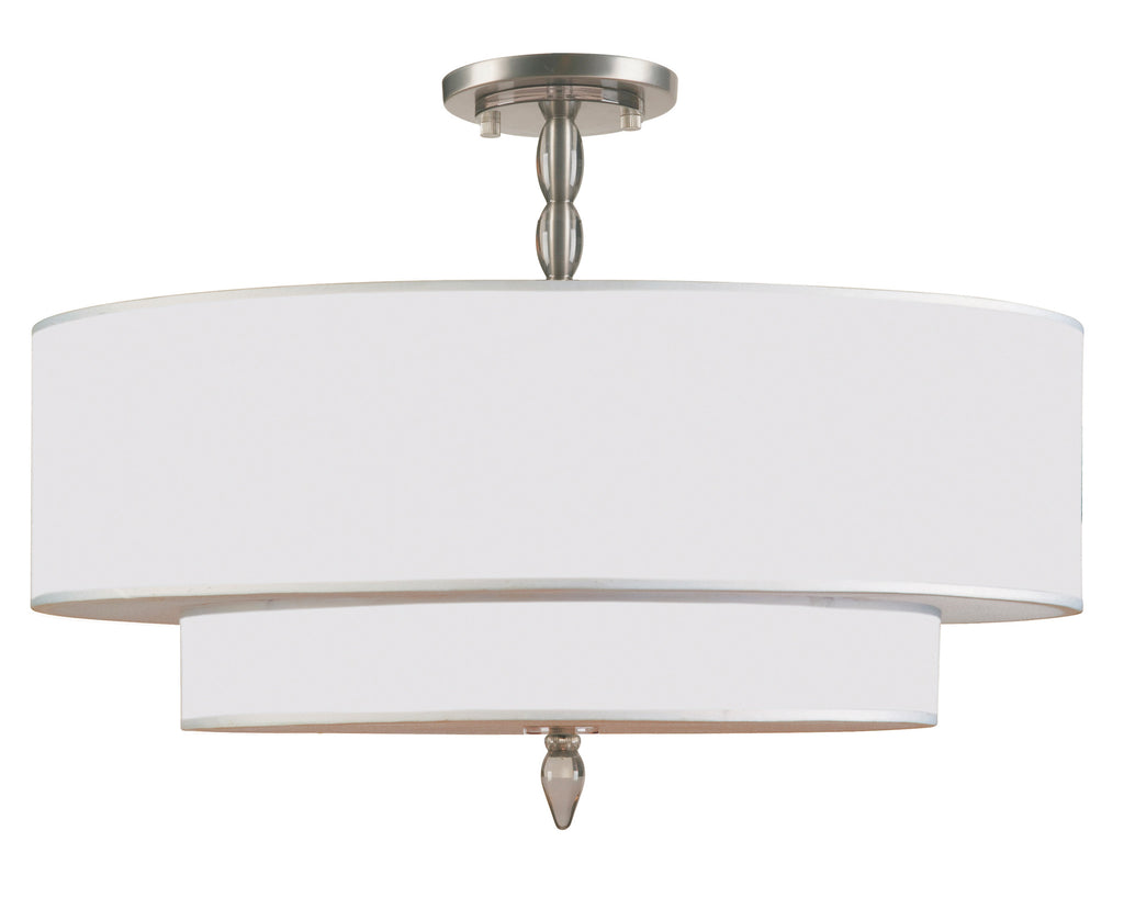 5 Light Satin Nickel Transitional  Modern Ceiling Mount - C193-9507-SN_CEILING