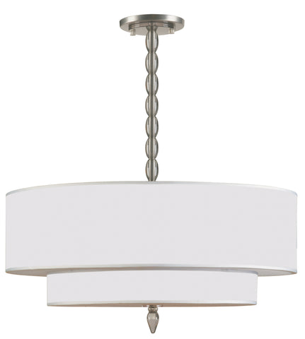 5 Light Satin Nickel Transitional  Modern Chandelier - C193-9507-SN