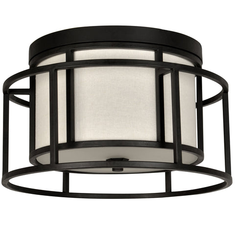 2 Light Matte Black Industrial Chic Ceiling Mount - C193-9590-MK