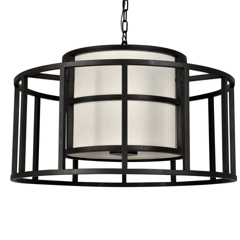 5 Light Matte Black Industrial Chic Chandelier - C193-9595-MK