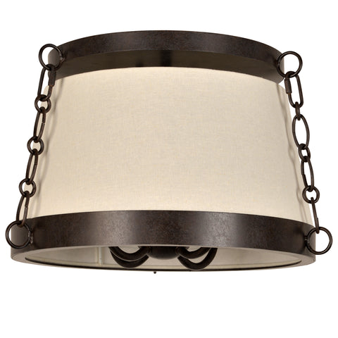 4 Light Charcoal Bronze Industrial Chic Ceiling Mount - C193-9800-CZ