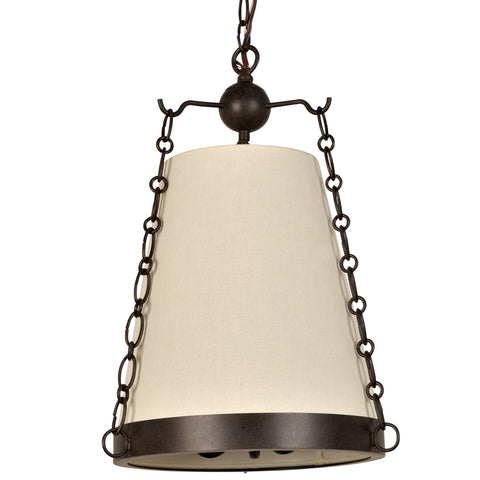 3 Light Charcoal Bronze Industrial Chic Mini Chandelier - C193-9813-CZ