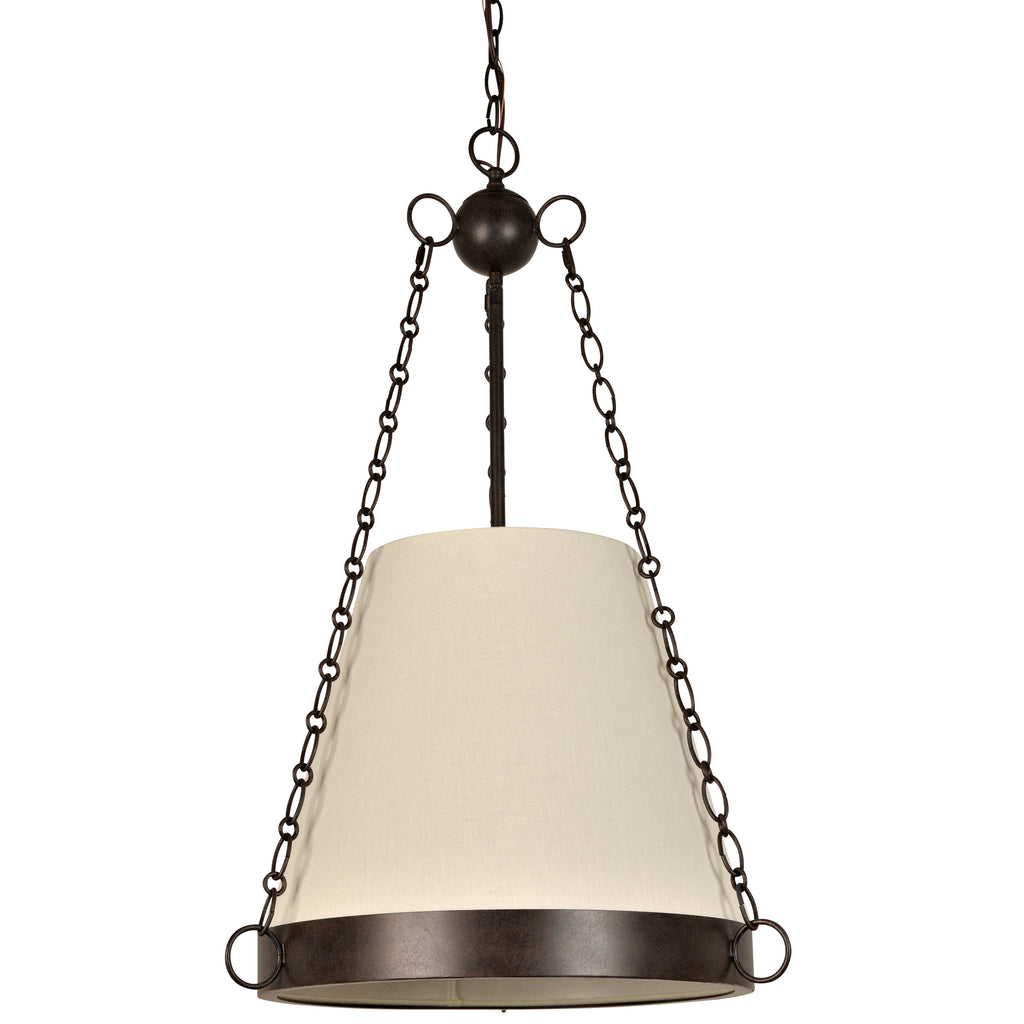 6 Light Charcoal Bronze Industrial Chic Chandelier - C193-9816-CZ