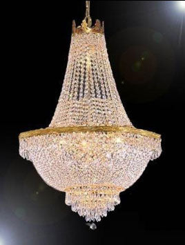 "French Empire Crystal Chandelier Lighting H30"" X W24"" - Go-A93-870/9"