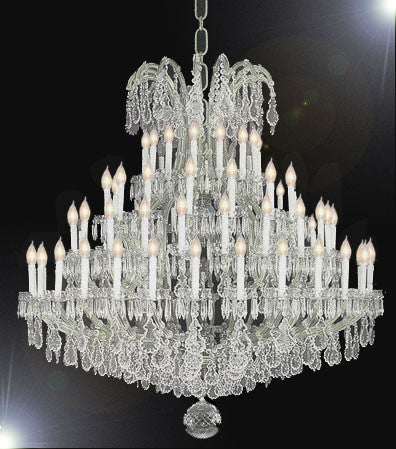 "Large Foyer / Entryway Maria Theresa Empress Crystal (tm) Chandelier Chandeliers Lighting H 70"" W 62"" - A83-SILVER/1578/77+7"