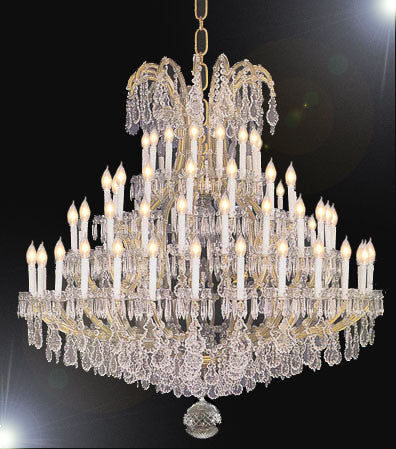 "Large Foyer / Entryway Maria Theresa Empress Crystal (tm) Chandelier Chandeliers Lighting! H70"" X W54"" - A83-1578/60+6"