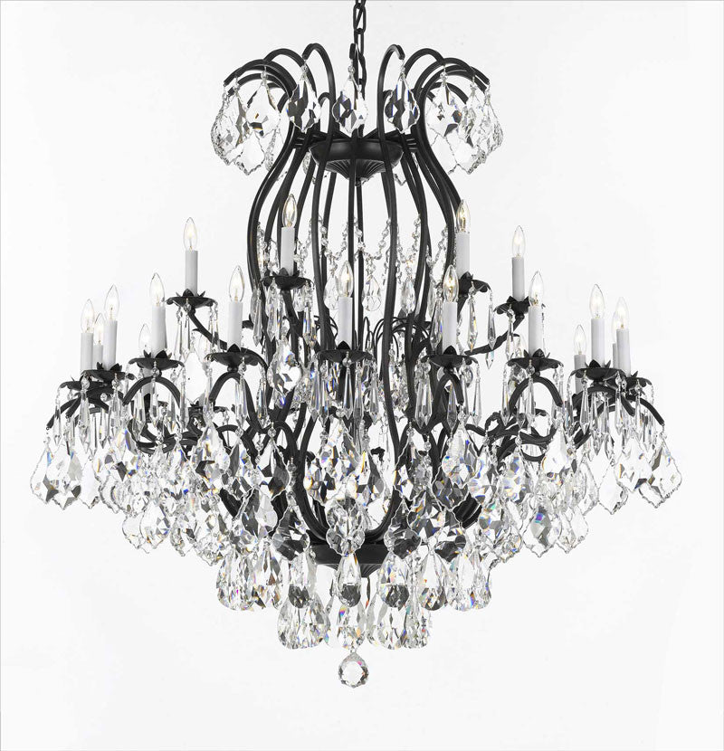 "Wrought Iron Chandelier Crystal Chandeliers Lighting Empress Crystal (Tm) H46"" W46"" - A83-3034/18+6"