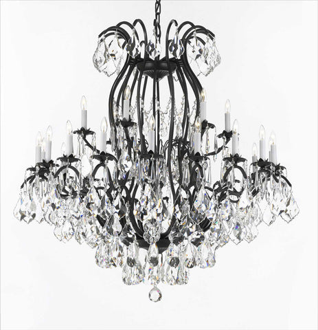 Wrought Iron Crystal Chandelier H30 Quot X W28 Quot Go A83 3034