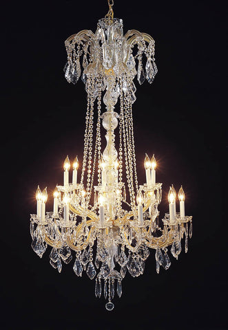 "New Maria Theresa Chandelier Crystal Lighting Chandeliers H60"" X W33"" - A83-352/18"