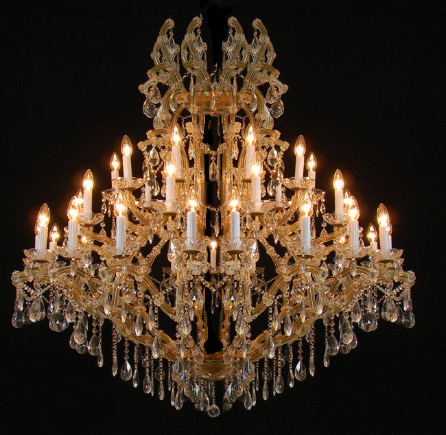 "Large Foyer / Entryway Maria Theresa Empress Crystal (Tm) Chandelier Chandeliers Lighting H60"" W52"" - A83-811/36"