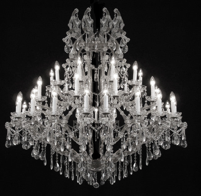 "Large Foyer / Entryway Maria Theresa Empress Crystal (tm) Chandelier Chandeliers Lighting! H60"" W52"" - A83-SILVER/811/36"