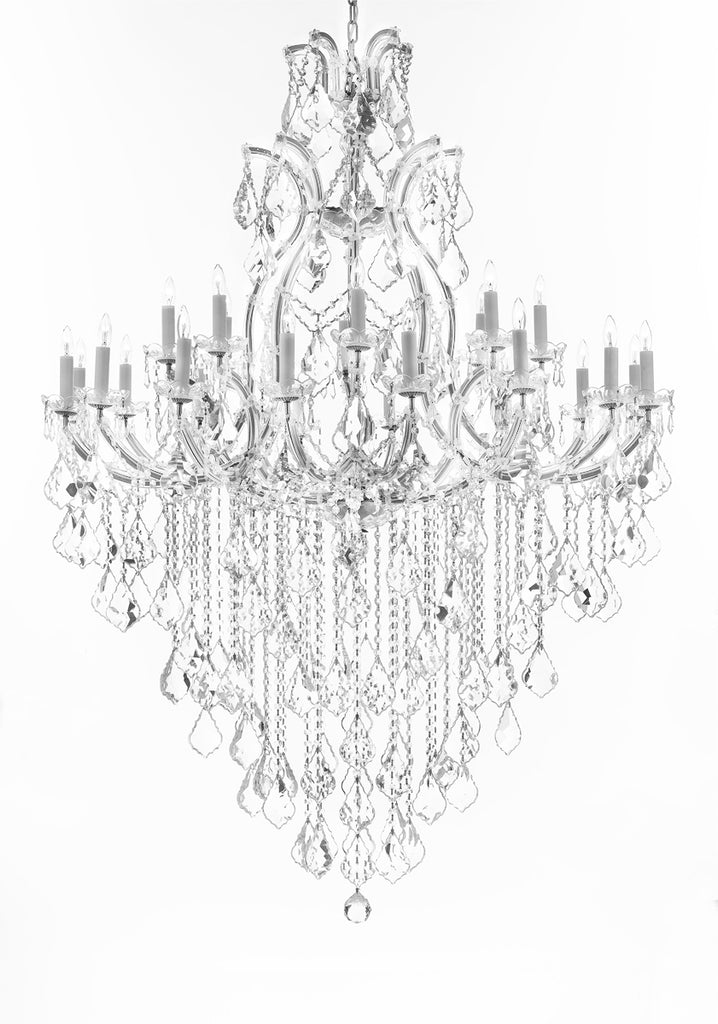 "Crystal Chandelier Lighting Chandeliers H65"" XW46"" Great for the Foyer, Entry Way, Living Room, Family Room and More - A83-B12/CS/52/2MT/24+1"