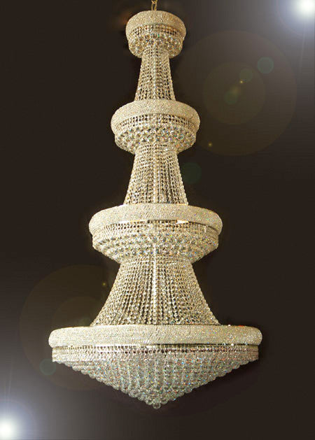 "Gold Empire Crystal Chandelier Foyer / Entryway Lighting 90""X44"" - A93-Cg/541/48"