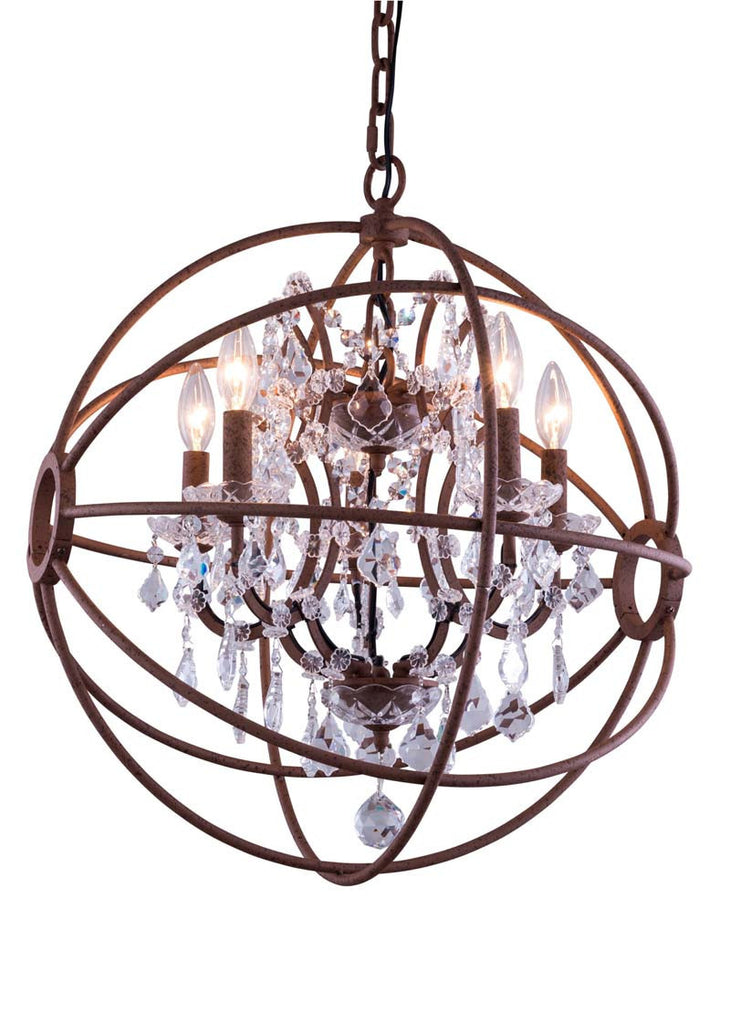 C121-1130D17RI/RC By Elegant Lighting - Geneva Collection Intent Finish 4 Lights Pendant lamp