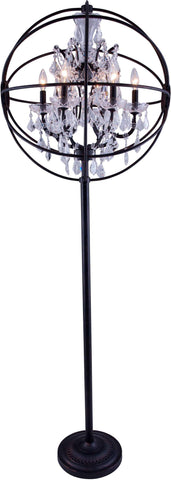 C121-1130FL24DB/RC By Elegant Lighting - Geneva Collection Dark Bronze Finish 6 Lights Floor Lamp