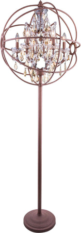 C121-1130FL24RI-GT/RC By Elegant Lighting - Geneva Collection Intent Finish 6 Lights Floor Lamp