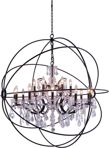 C121-1130G43DB/RC By Elegant Lighting - Geneva Collection Dark Bronze Finish 18 Lights Pendant lamp