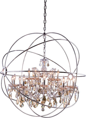 C121-1130G43PN-GT/RC By Elegant Lighting - Geneva Collection Polished nickel Finish 18 Lights Pendant lamp