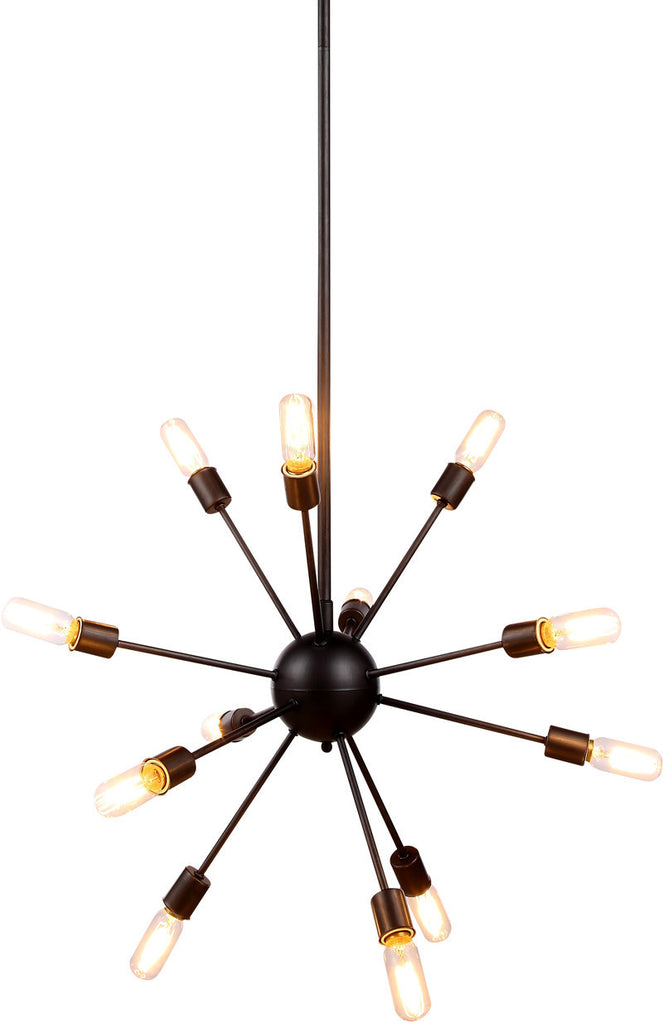 C121-1134D30VS By Elegant Lighting - Cork Collection Vintage Steel Finish 12 Lights Pendant Lamp