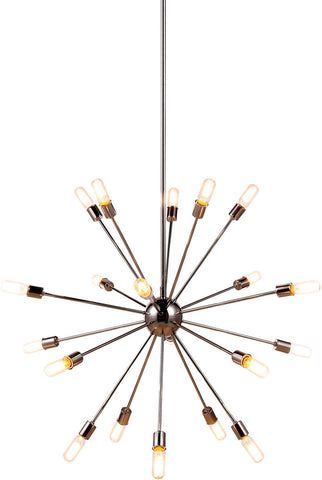 C121-1134G40PN By Elegant Lighting - Cork Collection Polished Nickel Finish 20 Lights Pendant Lamp