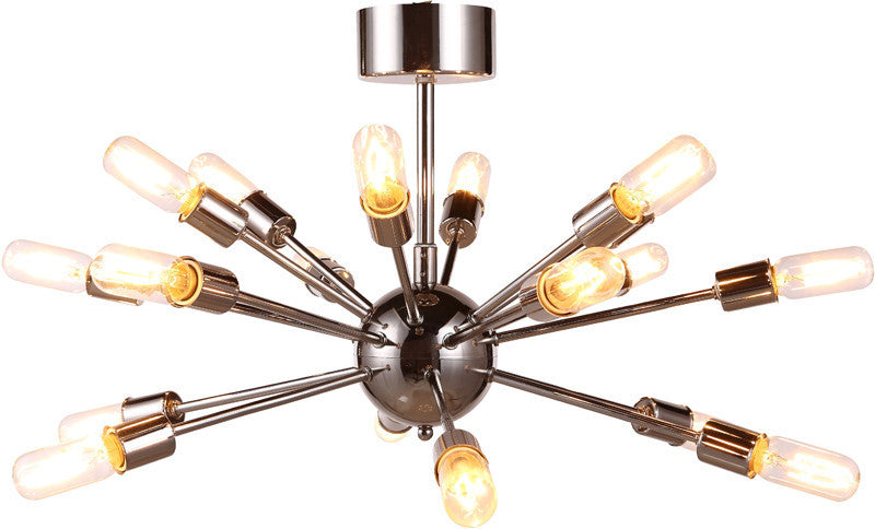 C121-1135D30PN By Elegant Lighting - Cork Collection Polished Nickel Finish 18 Lights Pendant Lamp