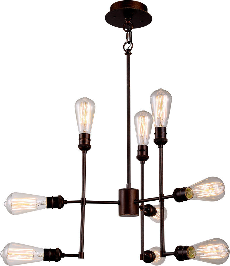 C121-1139D23CB By Elegant Lighting - Ophelia Collection Cocoa Brown Finish 9 Lights Pendant Lamp