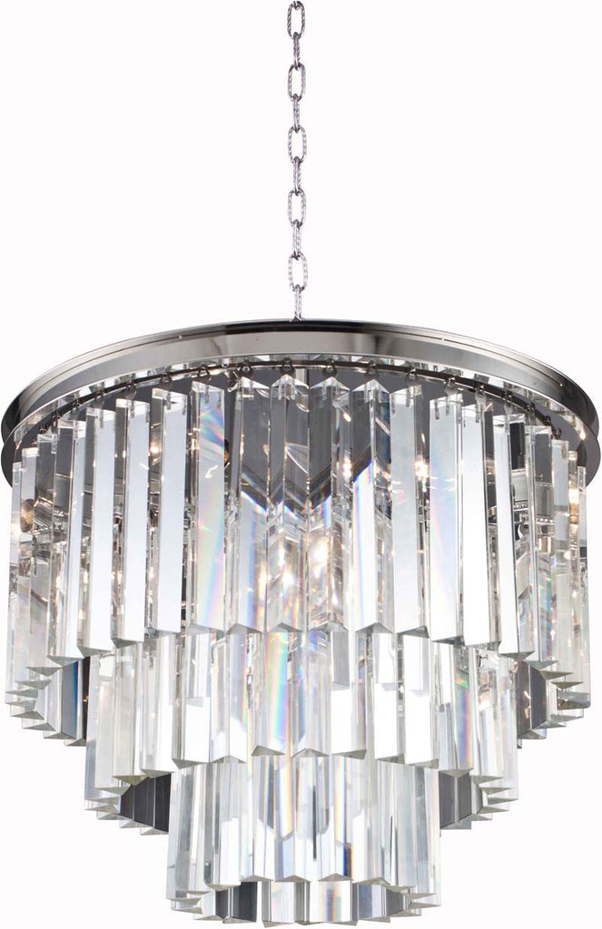 C121-1201D20PN/RC By Elegant Lighting - Sydney Collection Polished nickel Finish 9 Lights Pendant lamp