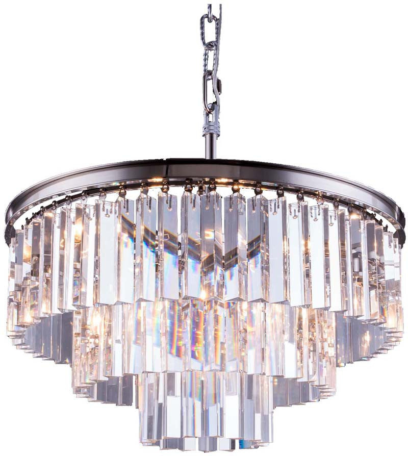 C121-1201D26PN/RC By Elegant Lighting - Sydney Collection Polished nickel Finish 9 Lights Pendant lamp