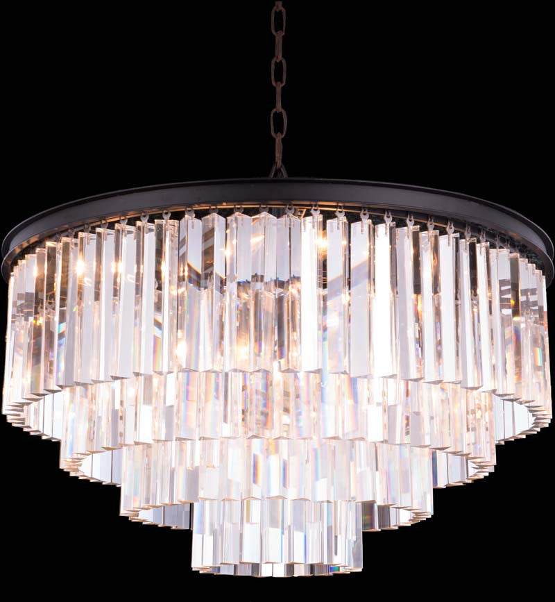 C121-1201D32MB/RC By Elegant Lighting - Sydney Collection Mocha Brown Finish 17 Lights Pendant lamp