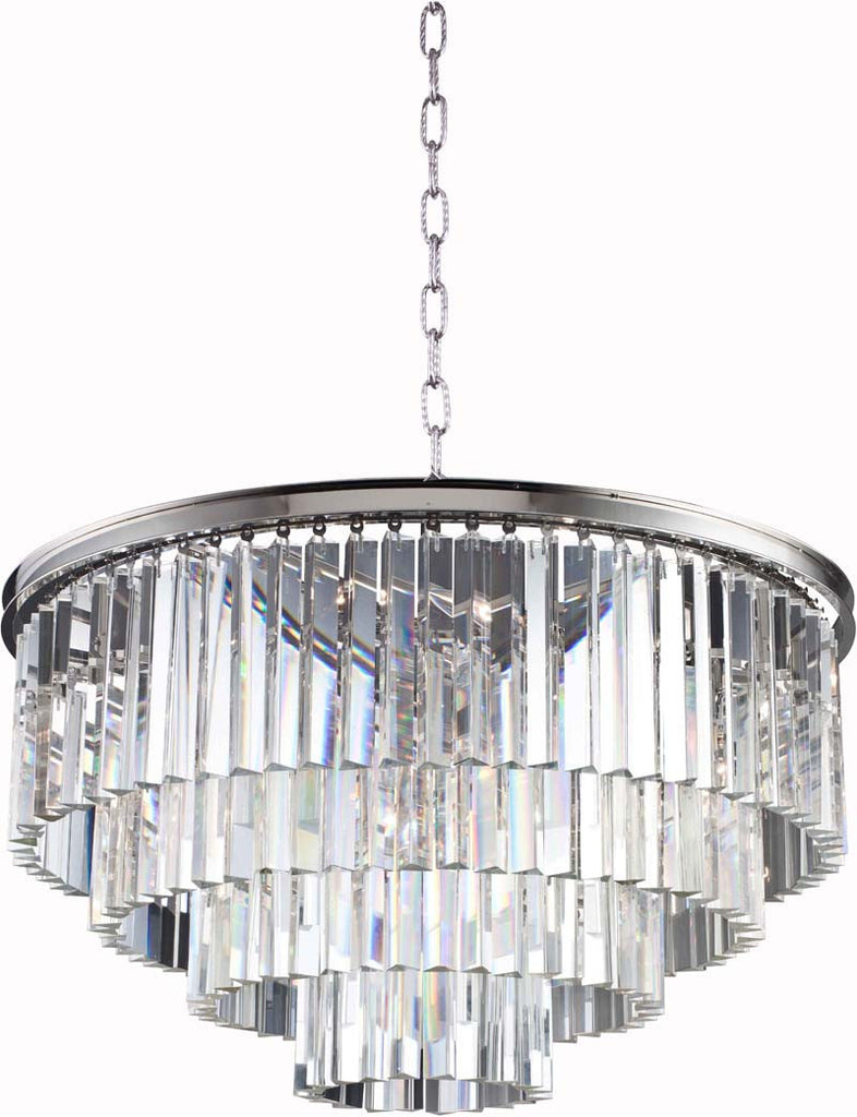 C121-1201D32PN/RC By Elegant Lighting - Sydney Collection Polished nickel Finish 17 Lights Pendant lamp