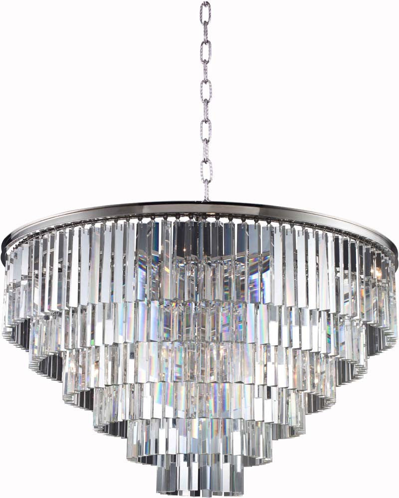 C121-1201D44PN/RC By Elegant Lighting - Sydney Collection Polished nickel Finish 33 Lights Pendant lamp