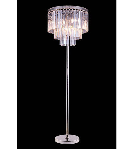 C121-1201FL20PN/RC By Elegant Lighting Urban Collection 8 Light Floor Lamp Polished nickel Finish
