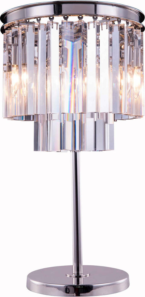 C121-1201TL14PN/RC By Elegant Lighting Urban Collection 3 Light tabel Lamp Polished nickel Finish
